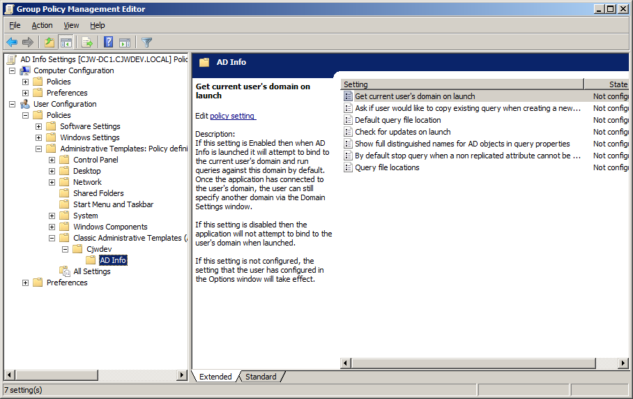 Cjwdev ad info group policy settings gpo 2 pronofoot35fo Gallery