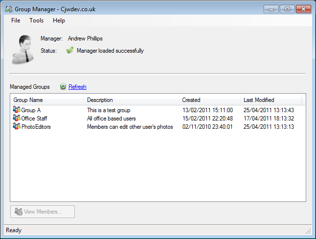 Windows 7 Group Manager 1.8.0 full